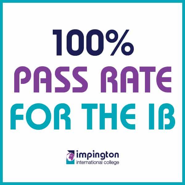 100% pass rate at Impington International College